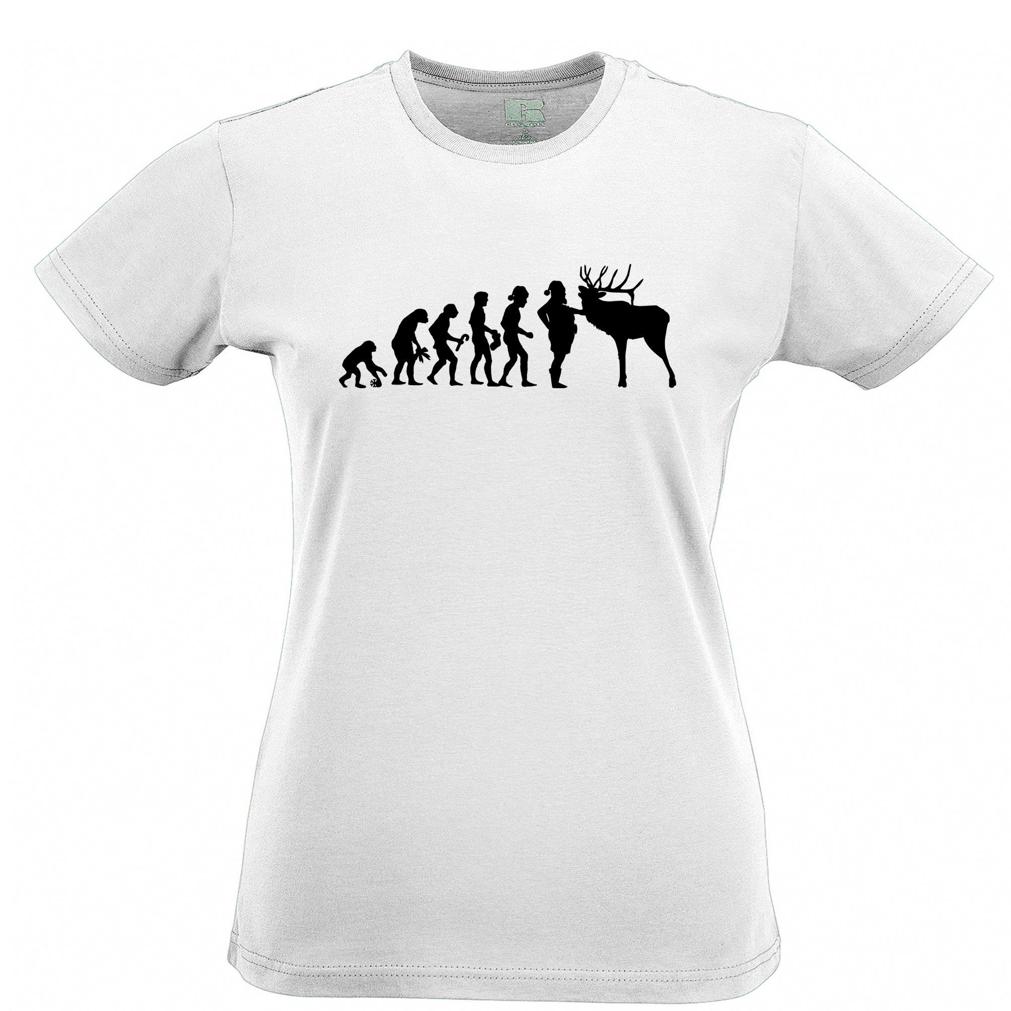 Black t shirt ebay - Evolution Of Christmas Darwin Santa Xmas Present Gift