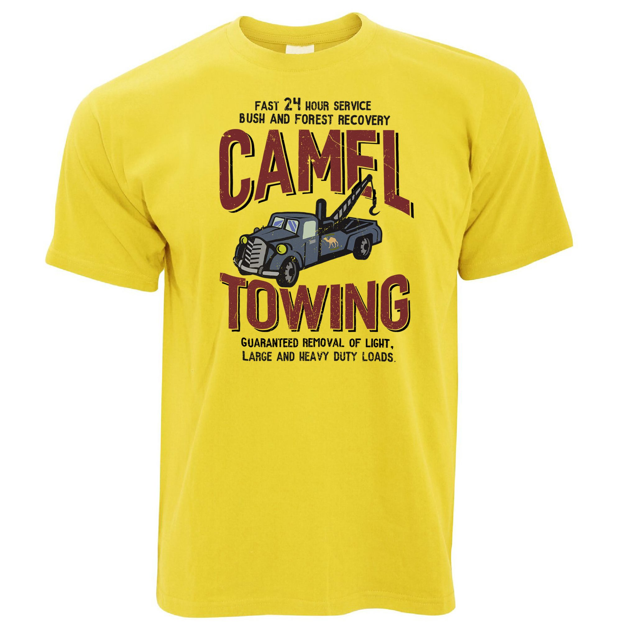 Camel Towing Vintage Mechanic Mens Funny T-Shirt Rude Joke Gift ...